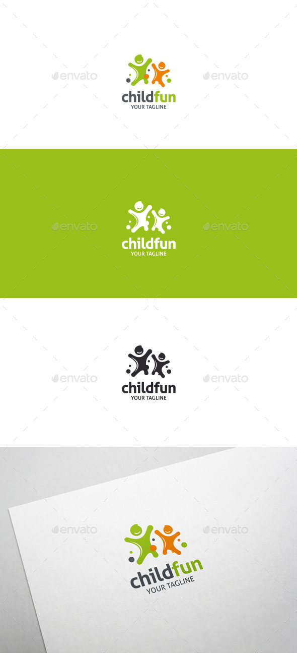 Child Fun Logo - Humans Logo Templates
