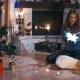 Girl Sitting Near a Fireplace With Sparklers - VideoHive Item for Sale