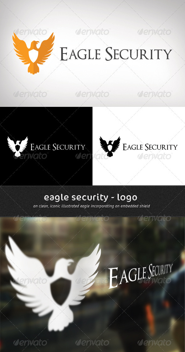 Eagle Security - Logo Design - Animals Logo Templates