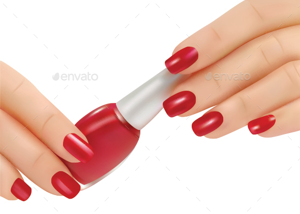 Red Nail Polish - Conceptual Vectors