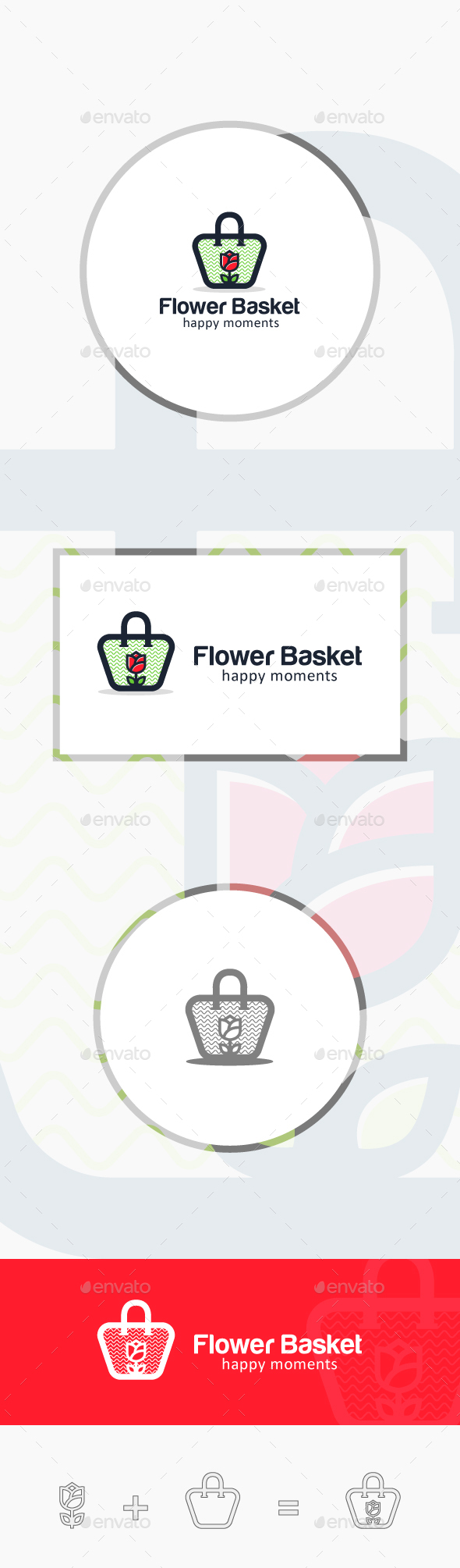 Flower Basket - Symbols Logo Templates