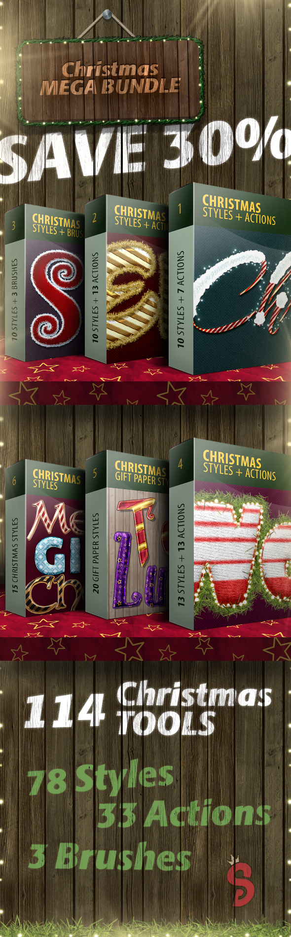 Christmas Actions & Styles - Mega Bundle - Text Effects Actions