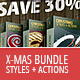 Christmas Actions & Styles - Mega Bundle - GraphicRiver Item for Sale