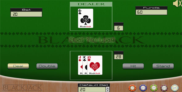 Blackjack Casino Game - HTML5 Mobile Optimized - CodeCanyon Item for Sale