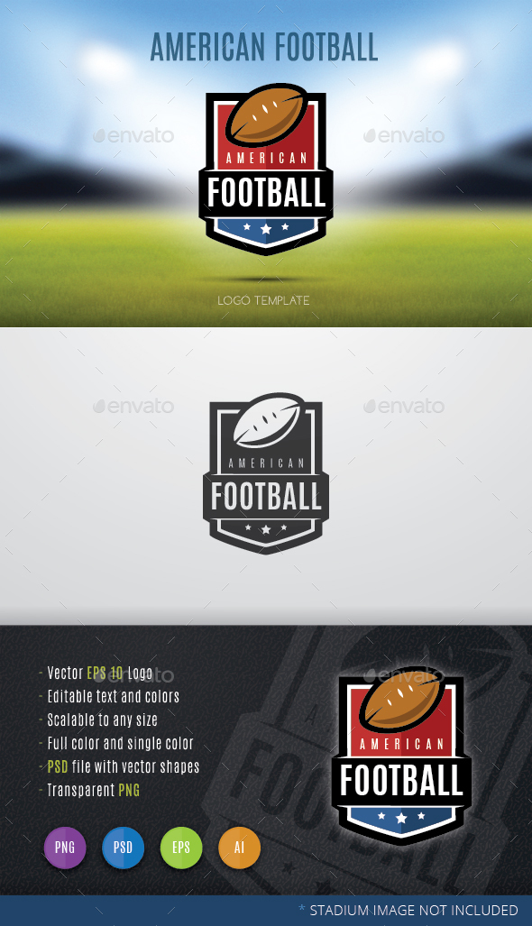 American Football - Crests Logo Templates