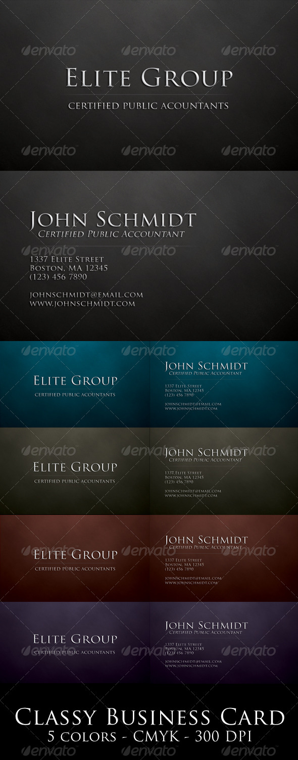 Classy Business Card - Corporate Business Cards