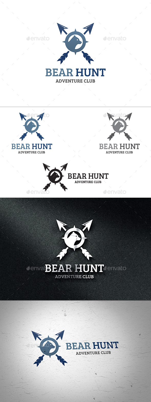 Bear Hunting Logo - Animals Logo Templates