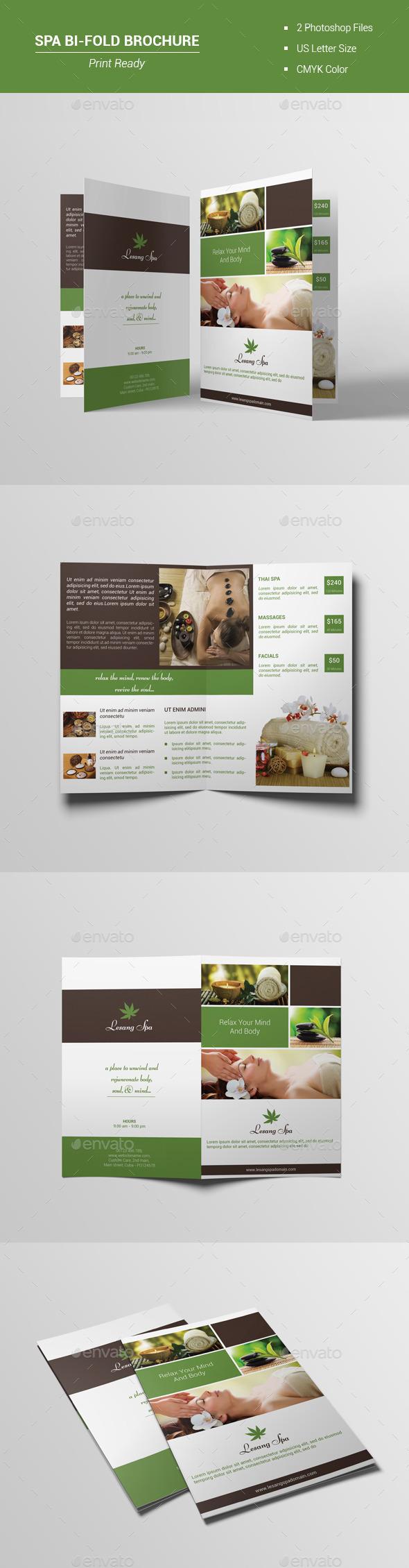 Spa Bi-Fold Brochure V1 - Brochures Print Templates