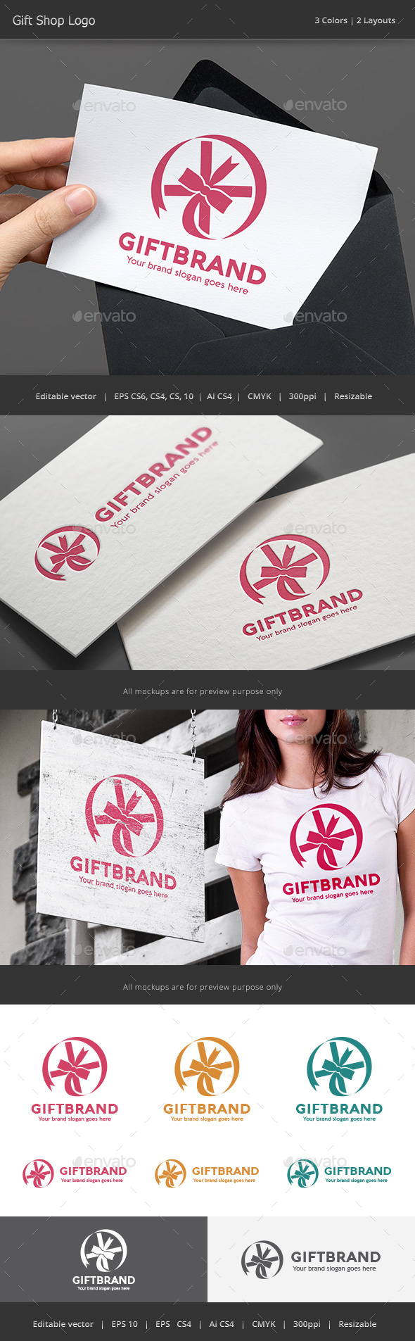 Gift Brand Logo - Objects Logo Templates