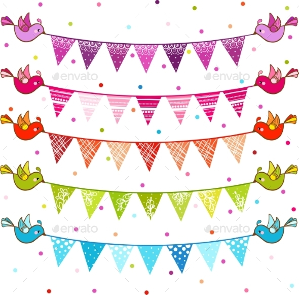 Party Pennant Bunting - Birthdays Seasons/Holidays