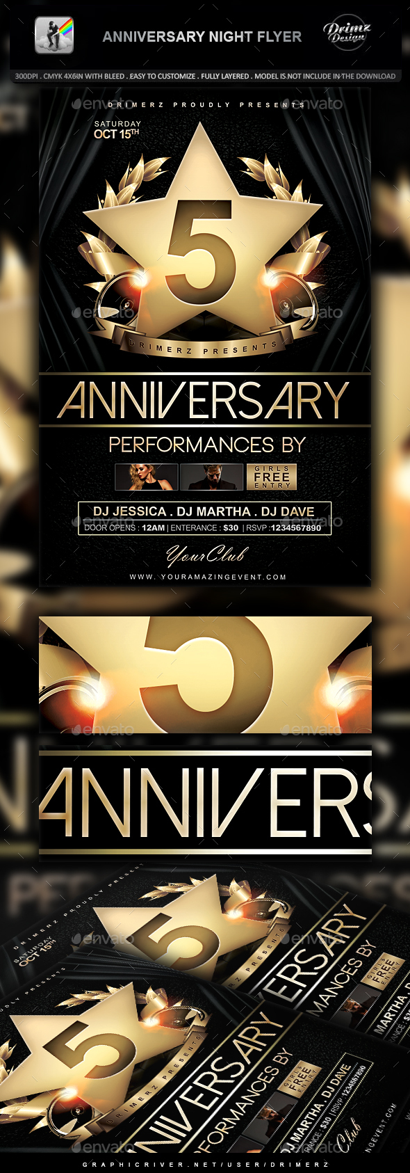 Anniversary Night Flyer - Events Flyers