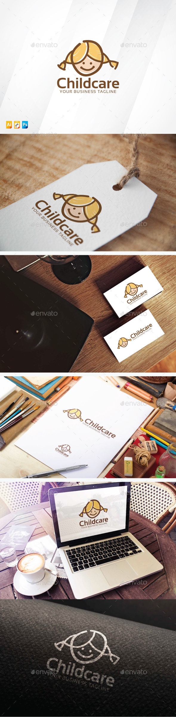 Childcare - Humans Logo Templates