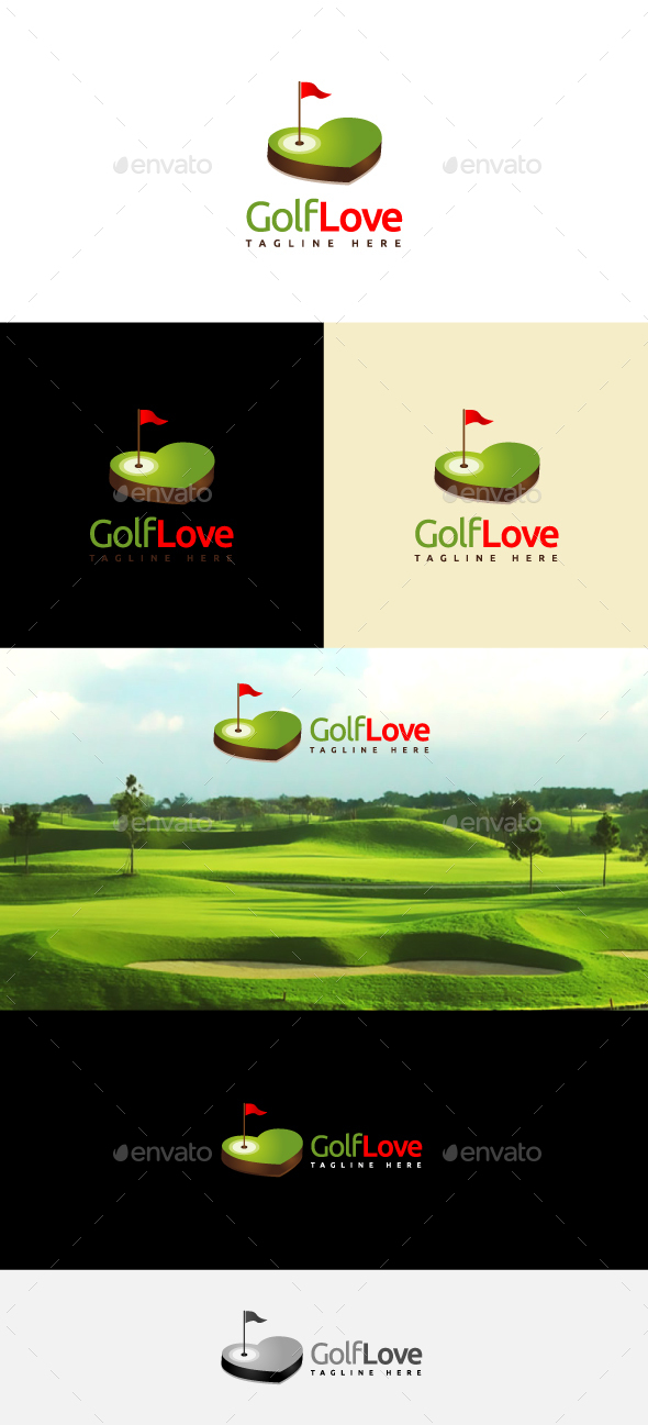 Golf Love - Objects Logo Templates