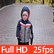 Little Kid Goes on Autumn Arbor - VideoHive Item for Sale