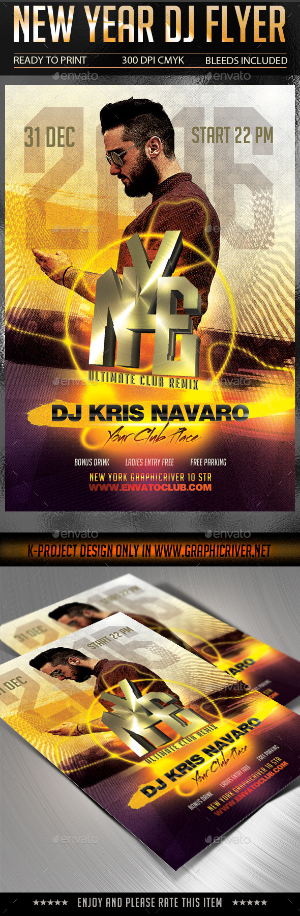 New Year DJ Flyer - Clubs & Parties Events