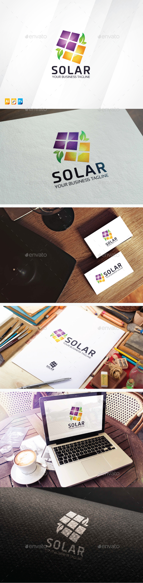 Solar - Objects Logo Templates