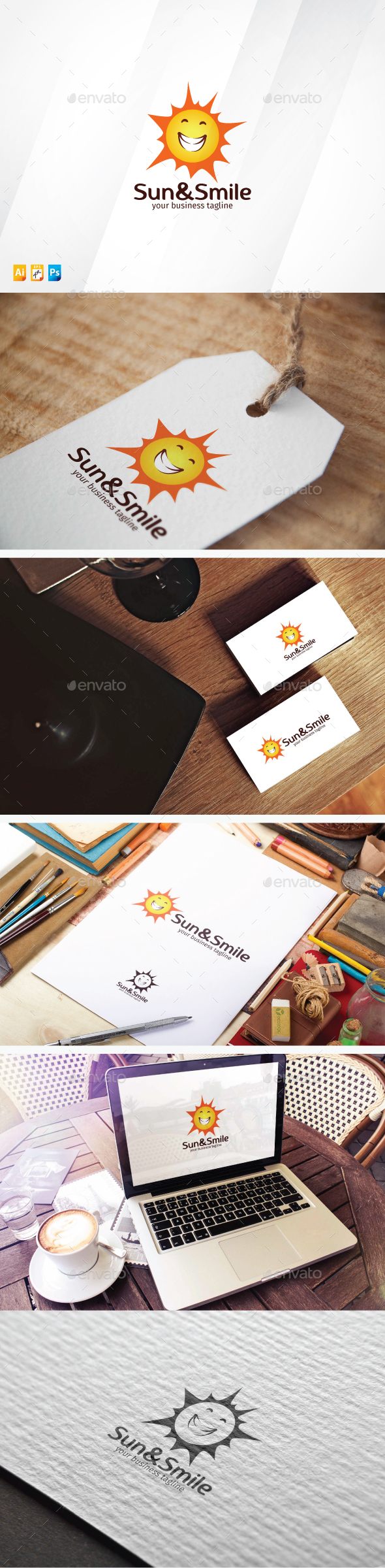 Sun & Smile - Nature Logo Templates