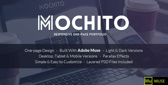 Mochito – One-Page Portfolio Muse Template