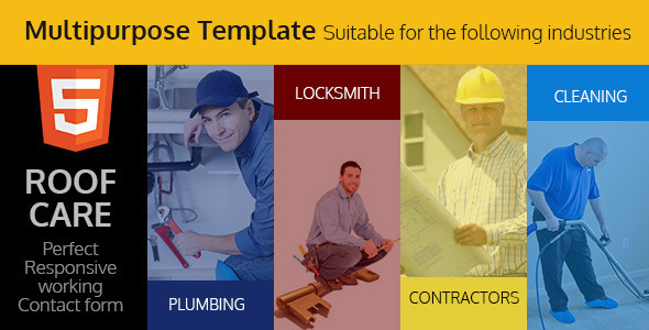 Roof Care - Roofing & Construction HTML Template  - Corporate Site Templates