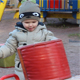 Kid Plays on a Playground - VideoHive Item for Sale