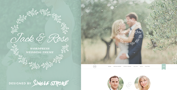 Jack & Rose – A Whimsical WordPress Wedding Theme