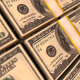 100 Dollars Stacks. Money Background - VideoHive Item for Sale