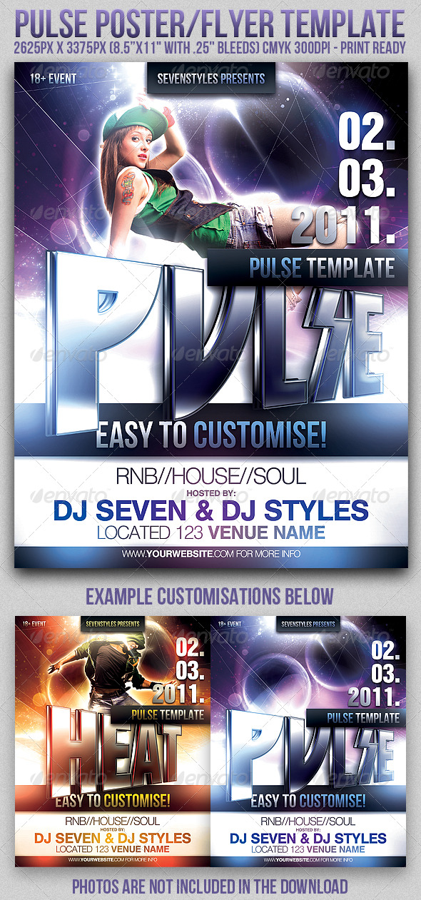 Pulse Poster/Flyer Template - Clubs & Parties Events