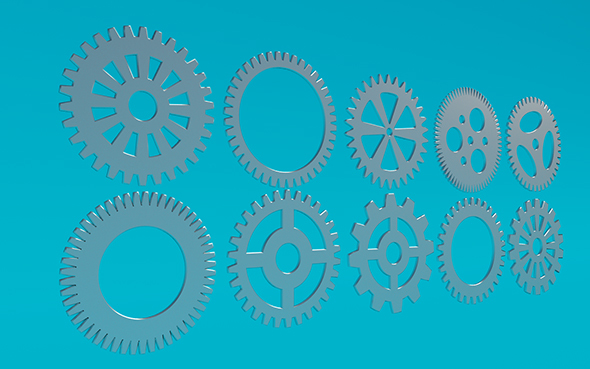 Gears 3 - 3DOcean Item for Sale