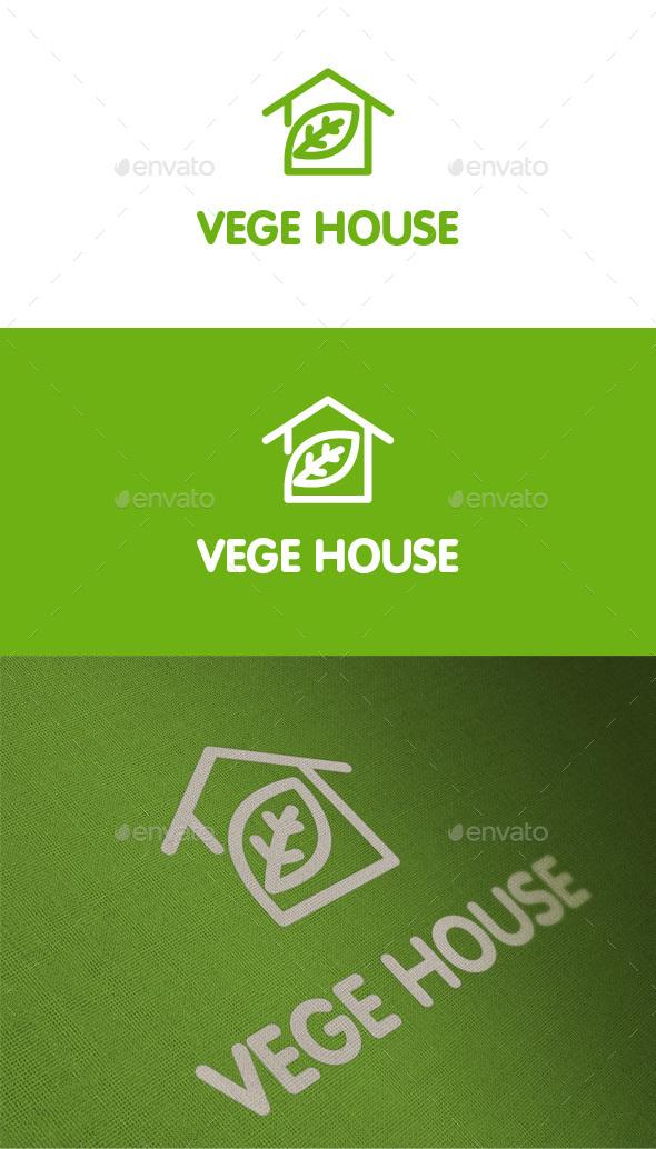 Vege House - Nature Logo - Nature Logo Templates