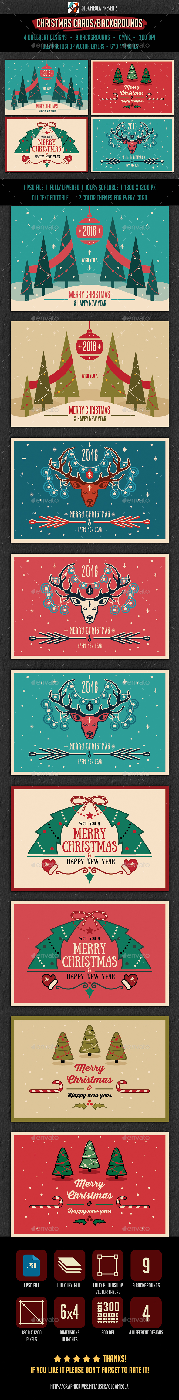 Christmas Cards/Backgrounds - Backgrounds Graphics