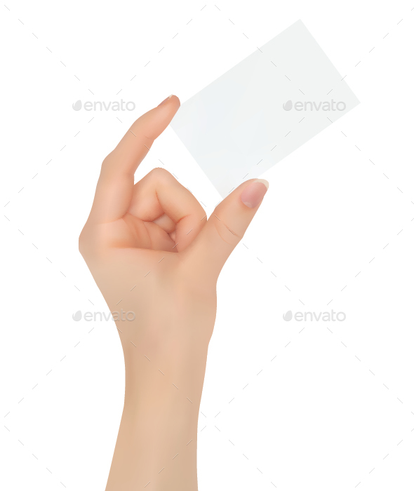 Hand Holding Card - Concepts Business