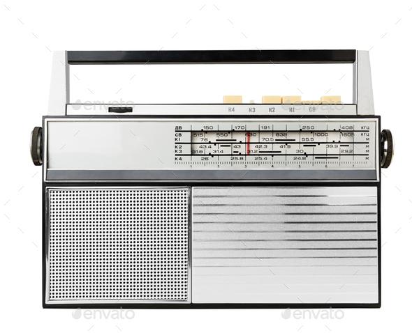 Old fashioned radio - Stock Photo - Images