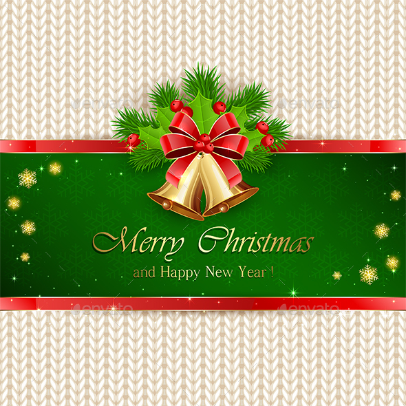 Christmas Decorations with Red Bow - Christmas Seasons/Holidays