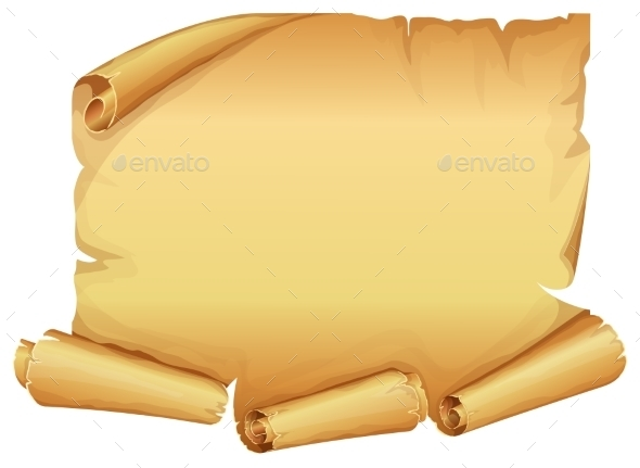 Big Golden Scroll of Parchment  - Backgrounds Decorative