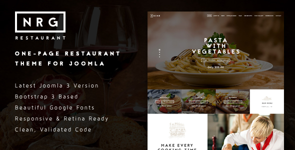 NRGrestaurant - Restauranteur & Catering Template - Food Retail