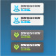 Download Now button sets with hover buttons - GraphicRiver Item for Sale