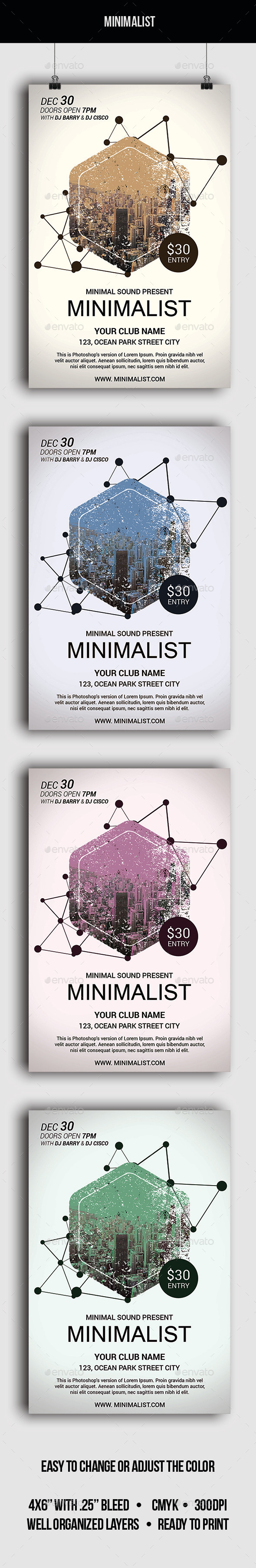 Minimalist - Flyer - Clubs & Parties Events