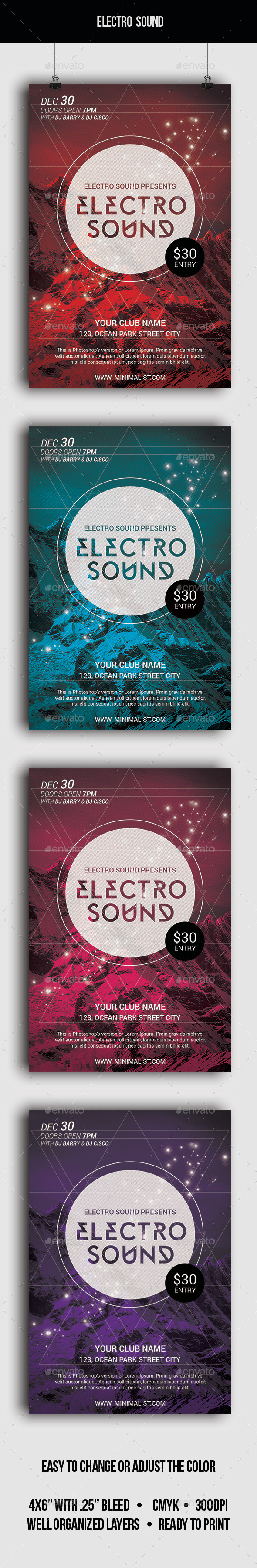 Electro Sound - Flyer - Clubs & Parties Events