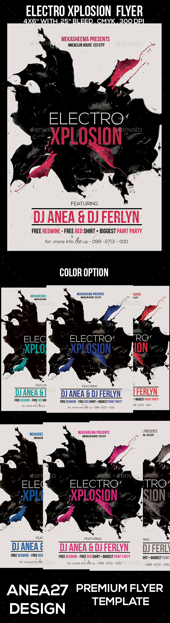 Electro Xplosion Flyer - Clubs & Parties Events