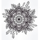 Hand Drawn Ornate Flower In The Crown Of Leaves.  - GraphicRiver Item for Sale