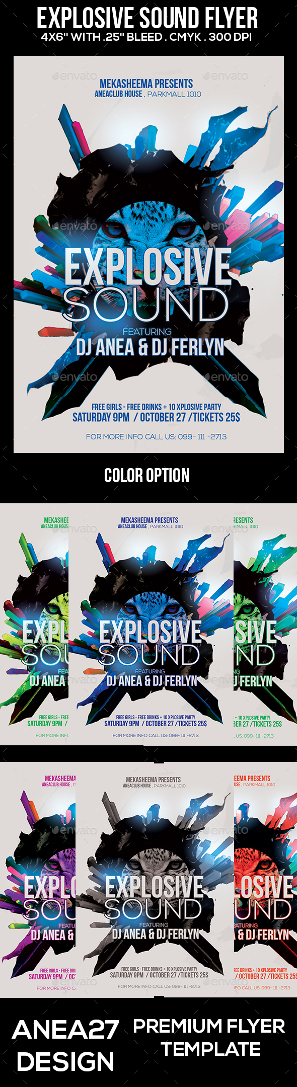 Explosive Sound Flyer - Clubs & Parties Events