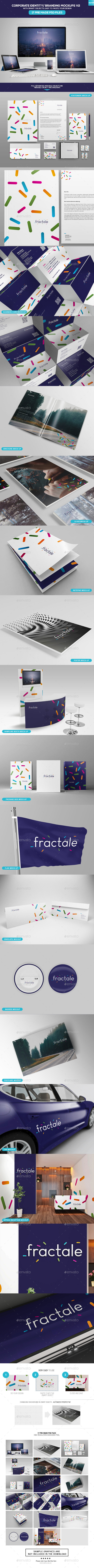 Corporate Identity - Branding Mockups V2 - Stationery Print