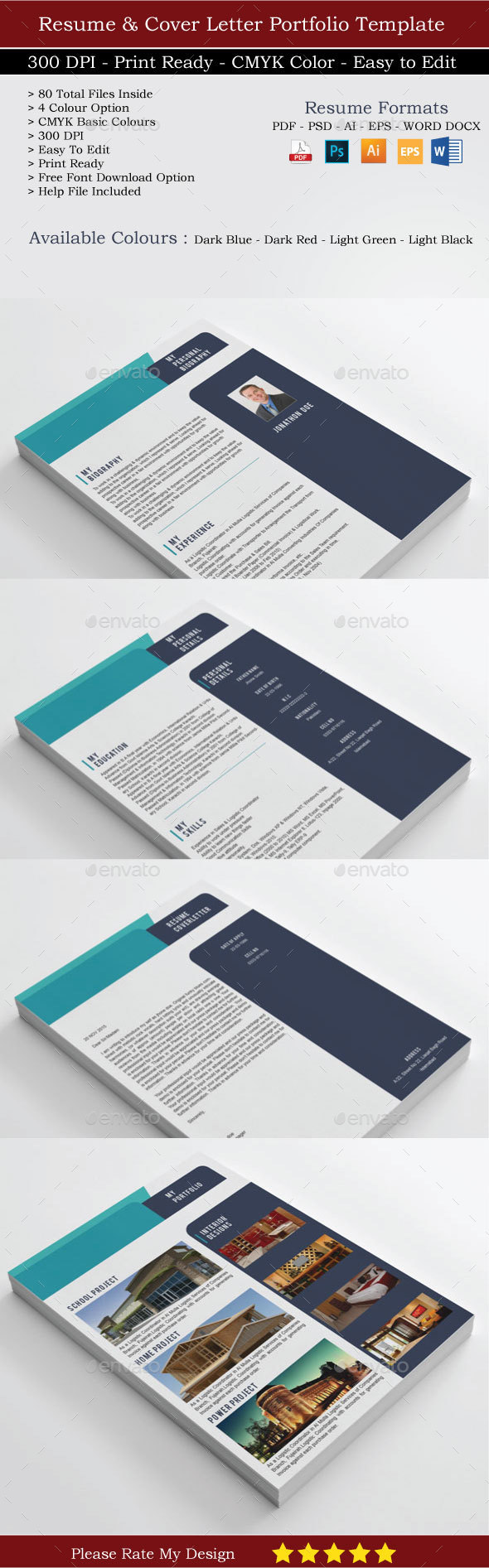 Resume and Cover letter Portfolio - Resumes Stationery
