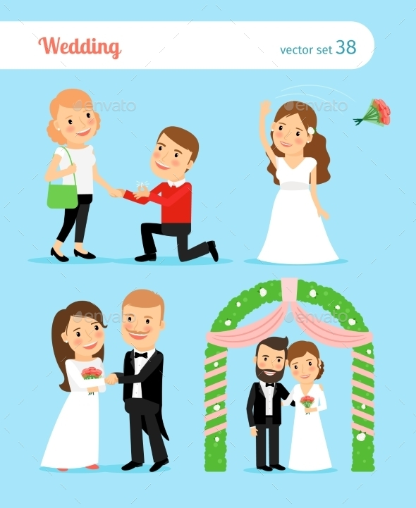 Wedding Pictures. Proposal Of Marriage - Weddings Seasons/Holidays