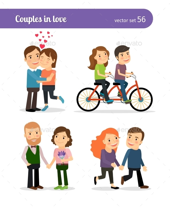 Romantic Couples Set - People Characters