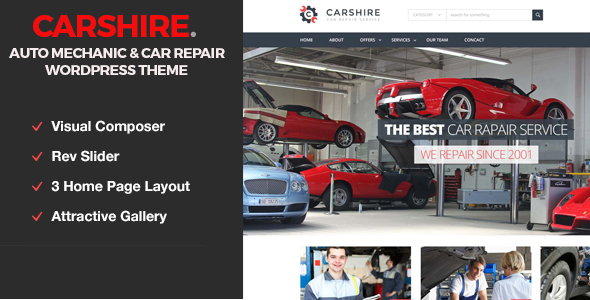 Car Shire || Auto Mechanic & Car Repair WordPress Theme - Business Corporate