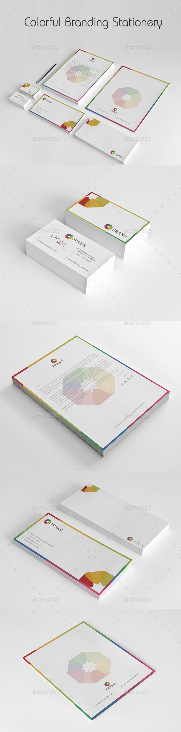 Colorful Branding Stationery - Stationery Print Templates