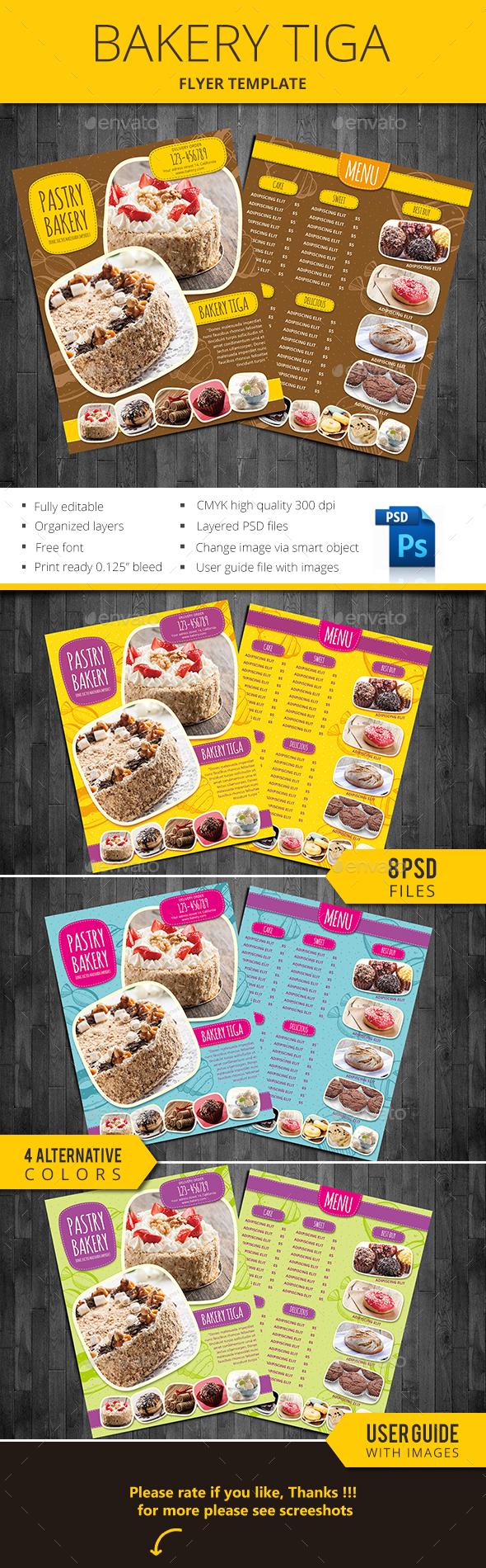 Bakery Tiga - Restaurant Flyers