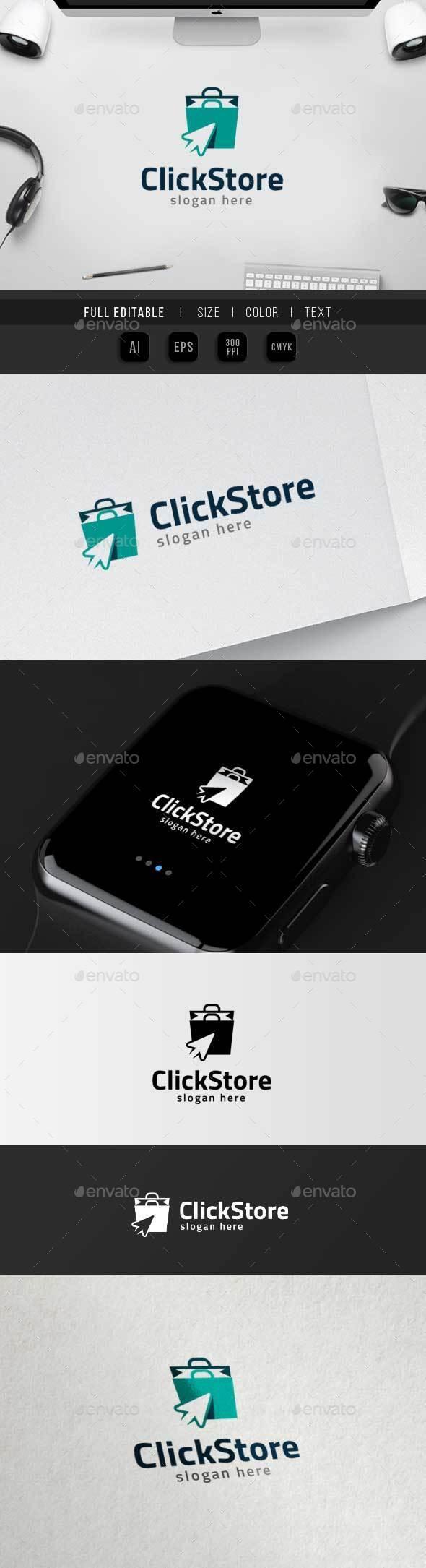 Click Store – ecommerce Logo - Objects Logo Templates