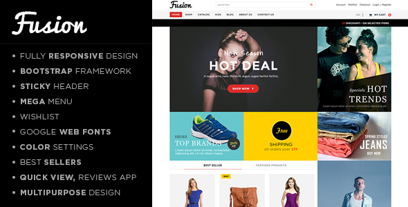 Fusion - Responsive Shopify Theme - Fashion Shopify